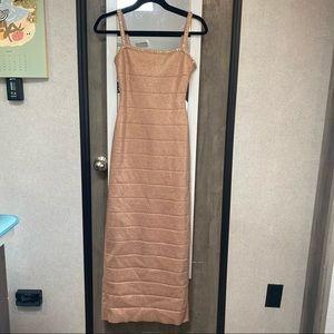 NWT Herve Leger Crystal-embellished bandage Dress